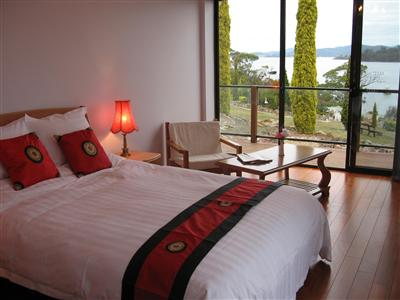 Bed and Breakfast room at Island Eden tasmania